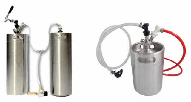 Draft Beer Dual Ball Lock Picnic Tap System Easy Carried
