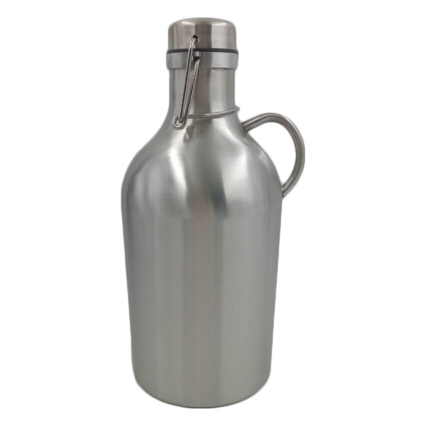 Stainless Steel Single Wall 64 Oz Growler Flip Top With