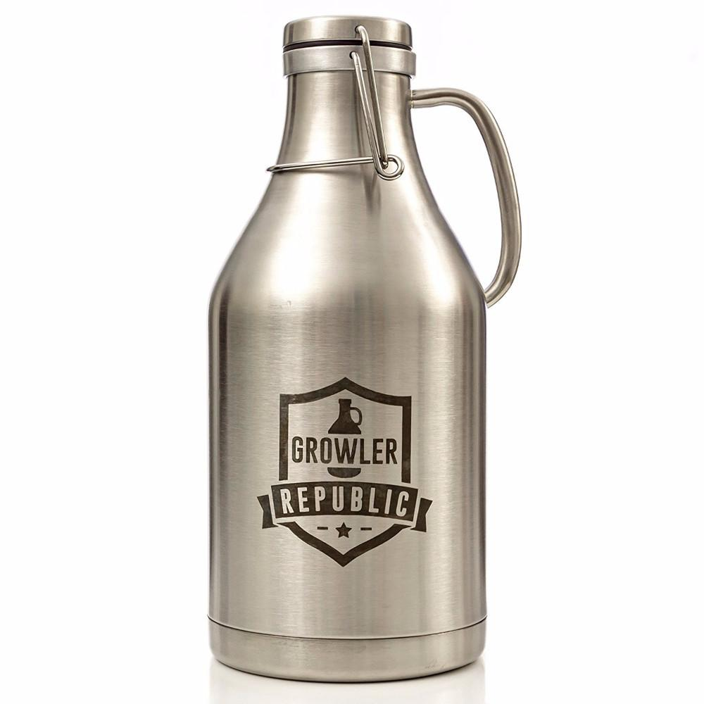 Refillable Double Wall Stainless Steel Growler With