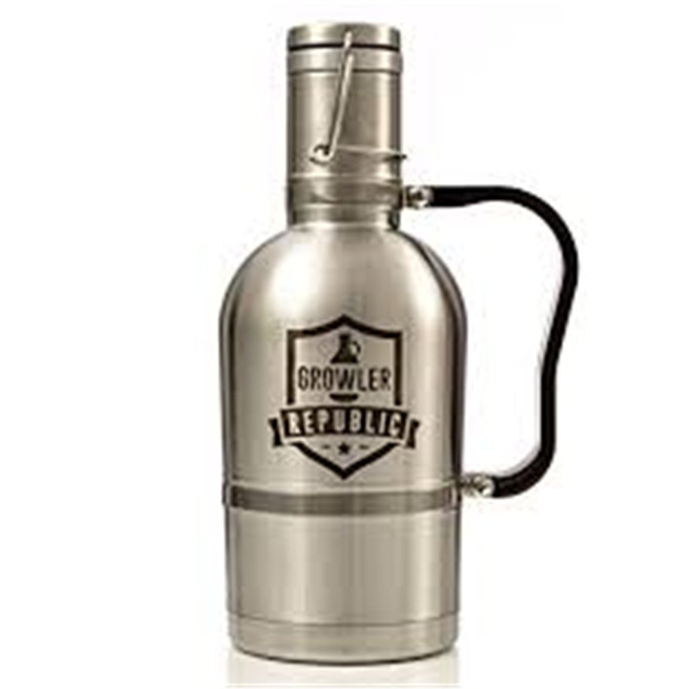 64 Oz Classic Vacuum Insulated Growler Fill From Keg 6