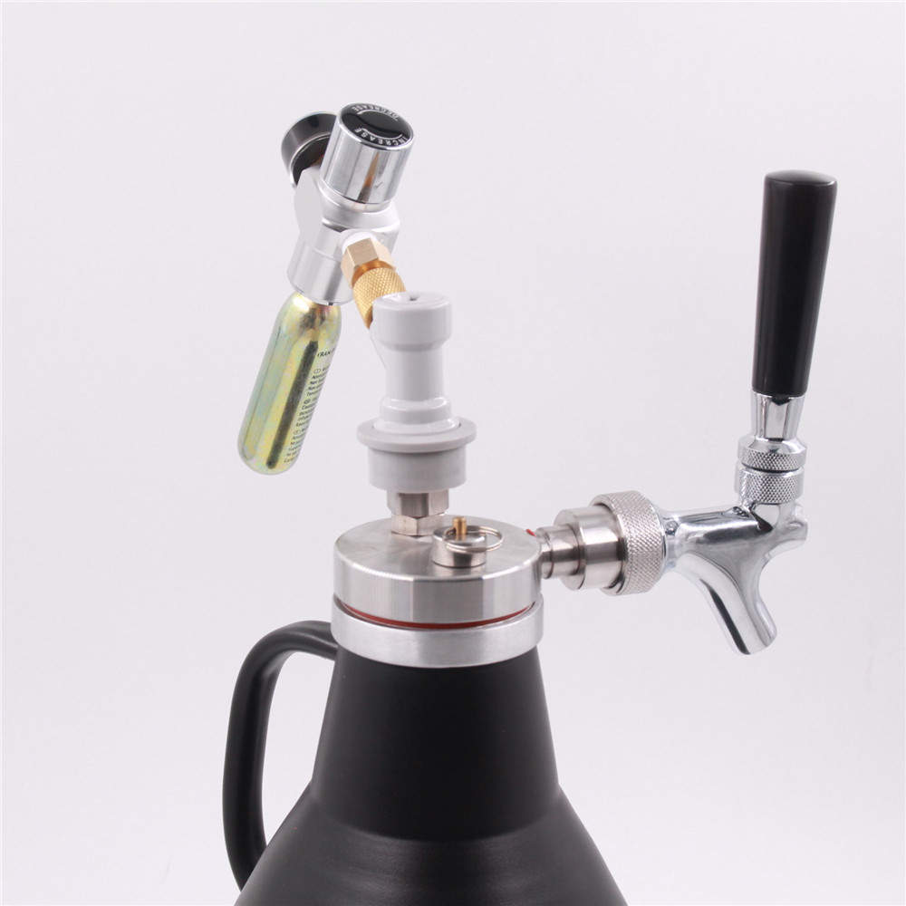 64 oz Stainless Steel Pressurized Vacuum Insulated Craft Beer ...
